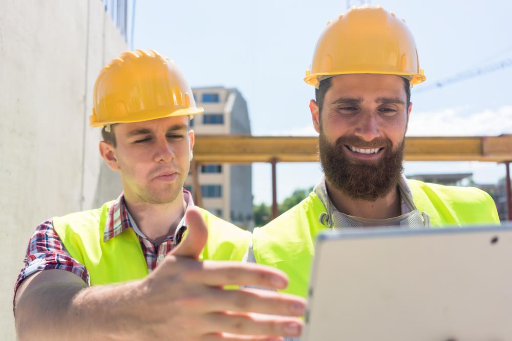 construction worker social media